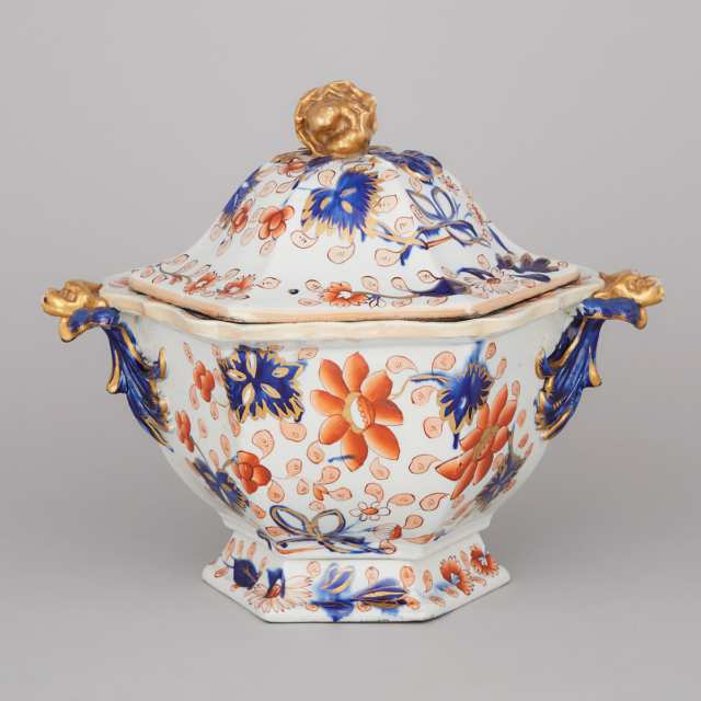 Mason's Ironstone Japan Pattern Large Covered Tureen, c.1820