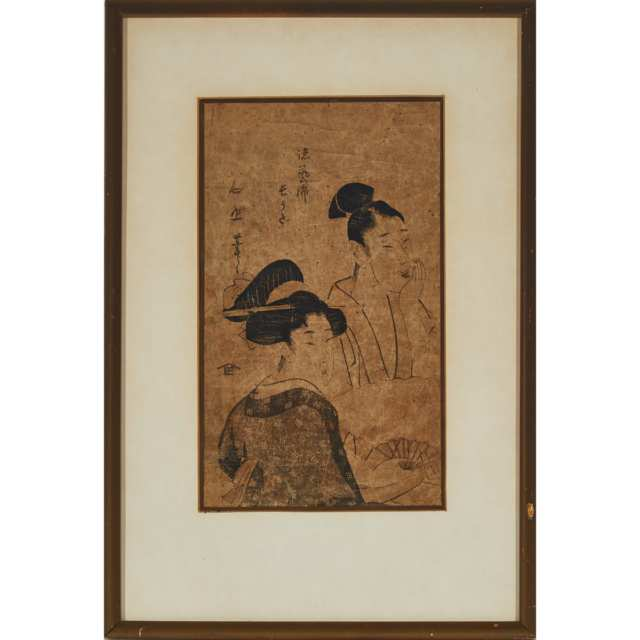 A Group of Four Framed Ukiyo-e Woodblock Prints, 19th Century