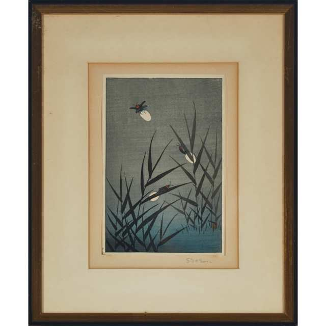A Group of Three Framed Japanese Woodblock Prints