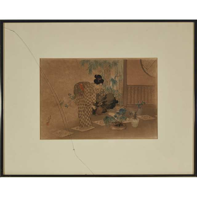 A Group of Three Framed Woodblock Prints, 19th/20th Century
