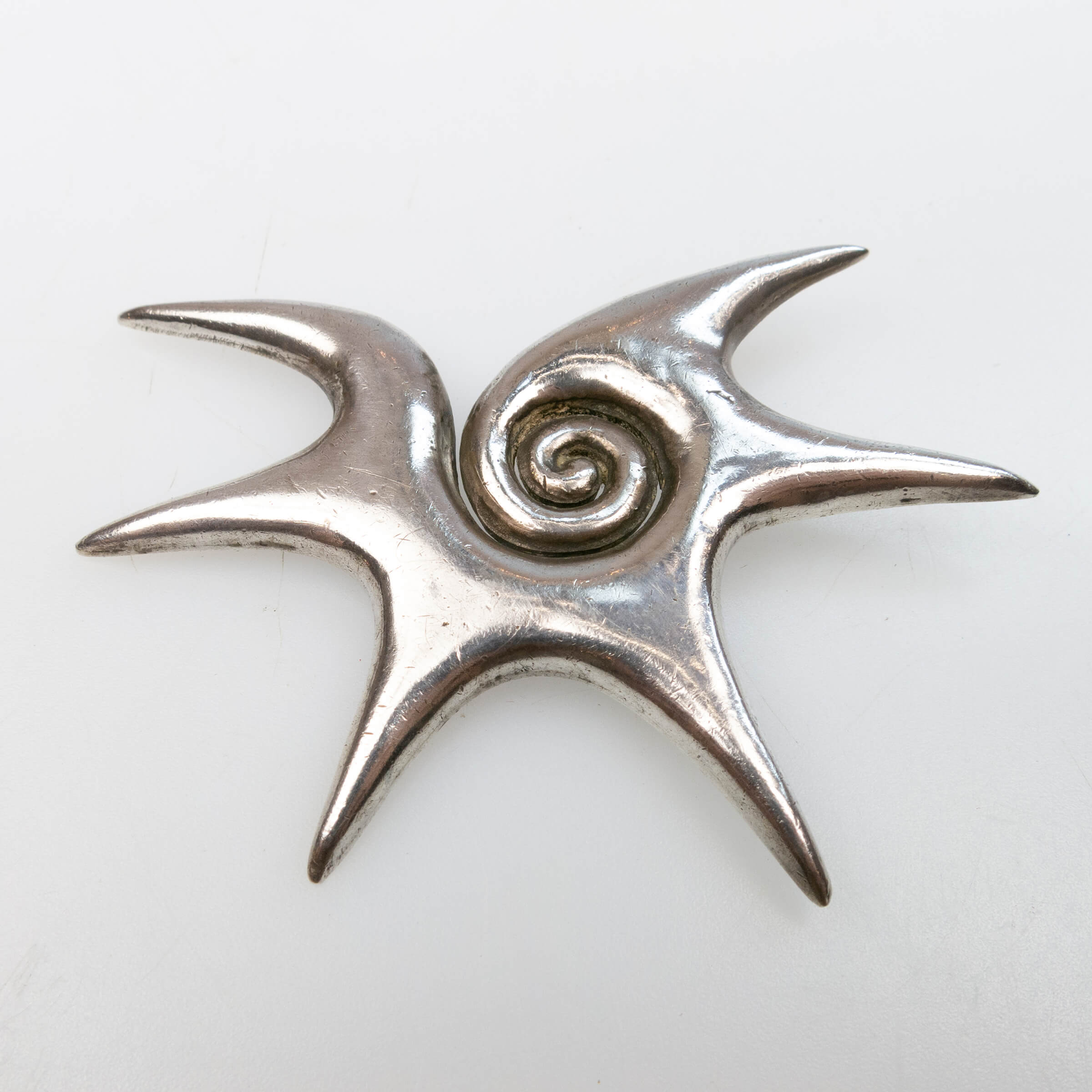 William Spratling Mexican Silver Abstract Brooch