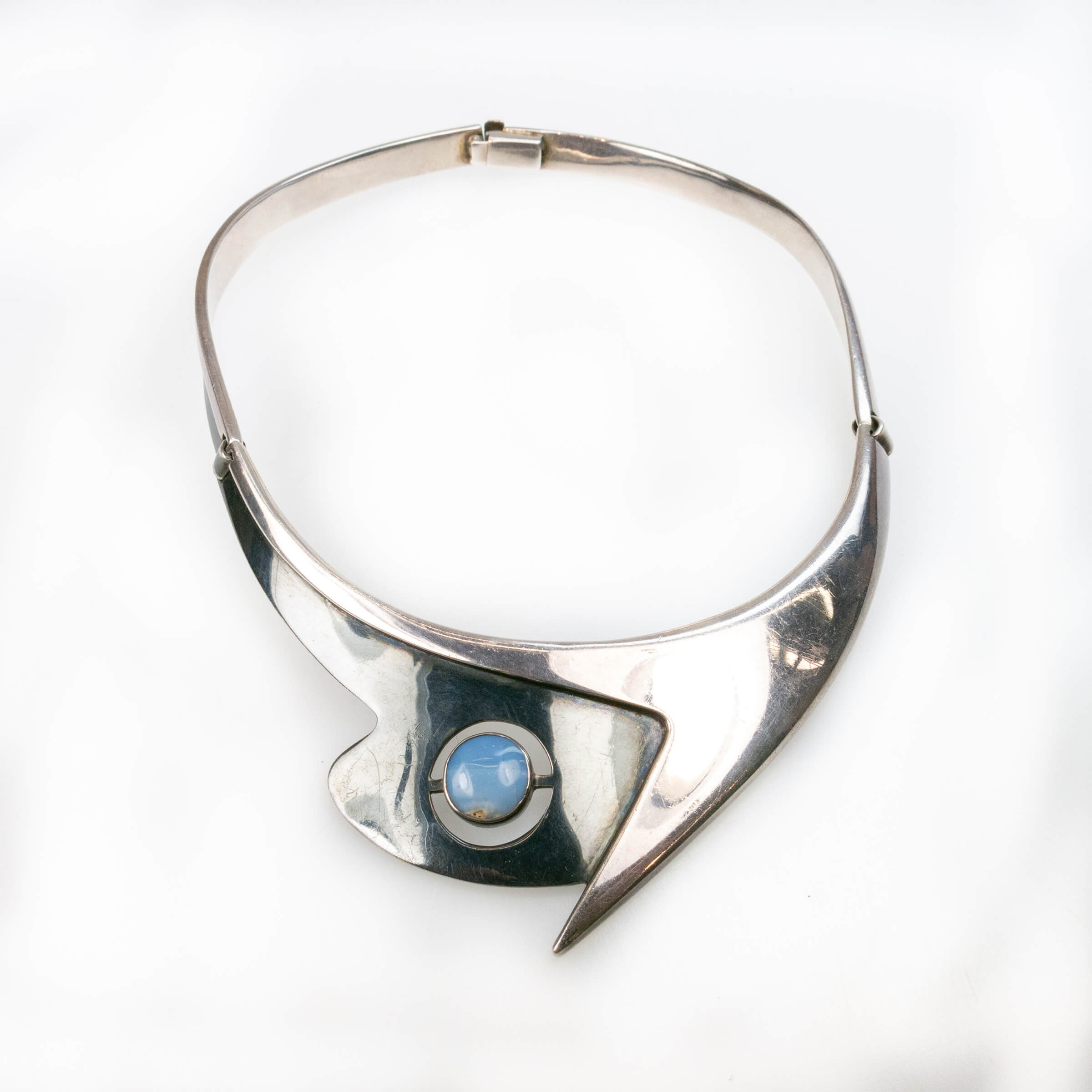 Sigfrido Pineda Mexican Sterling Silver Collar Necklace