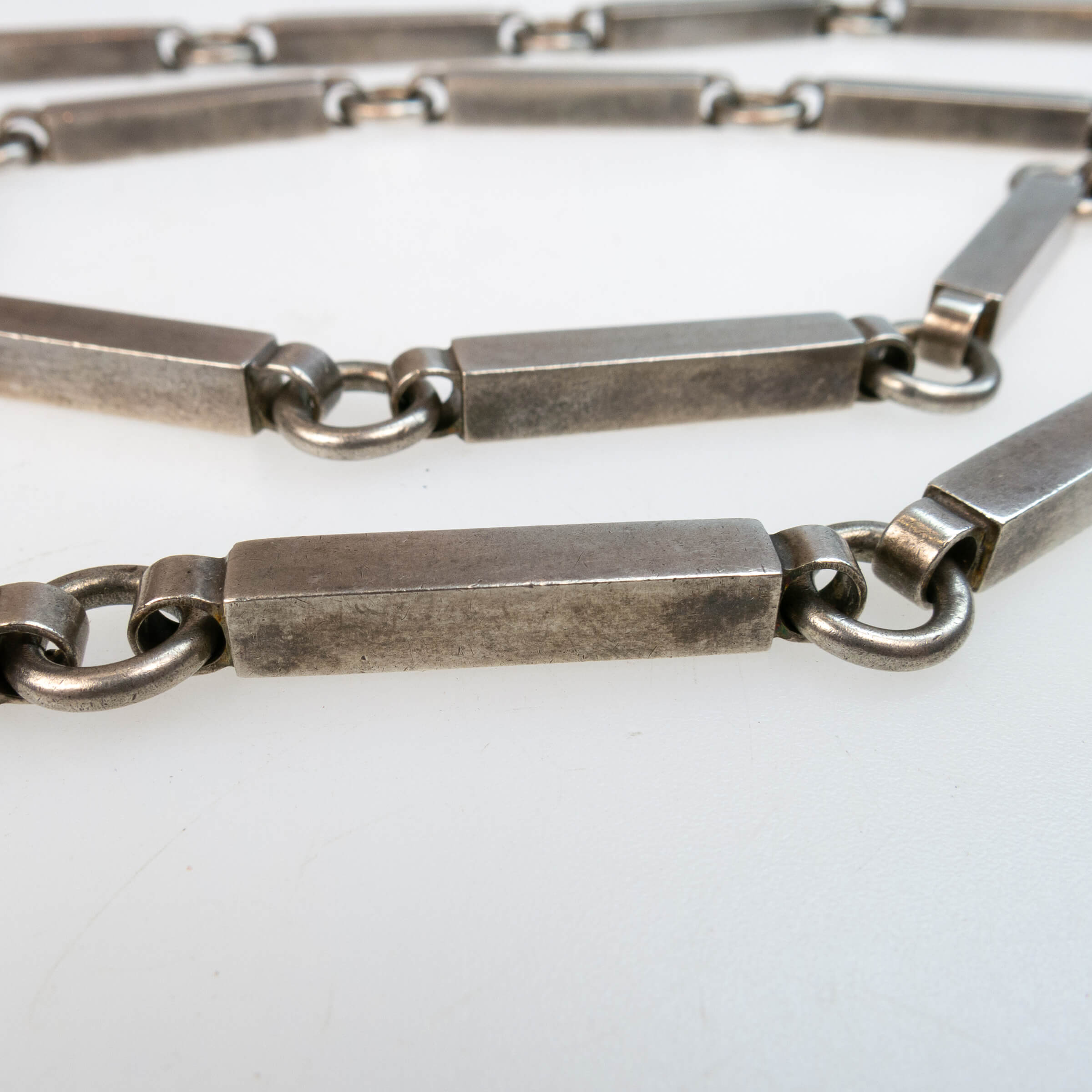 Marianne Berg for Uni David-Andersen Norwegian Sterling Silver Bar Link Endless Necklace