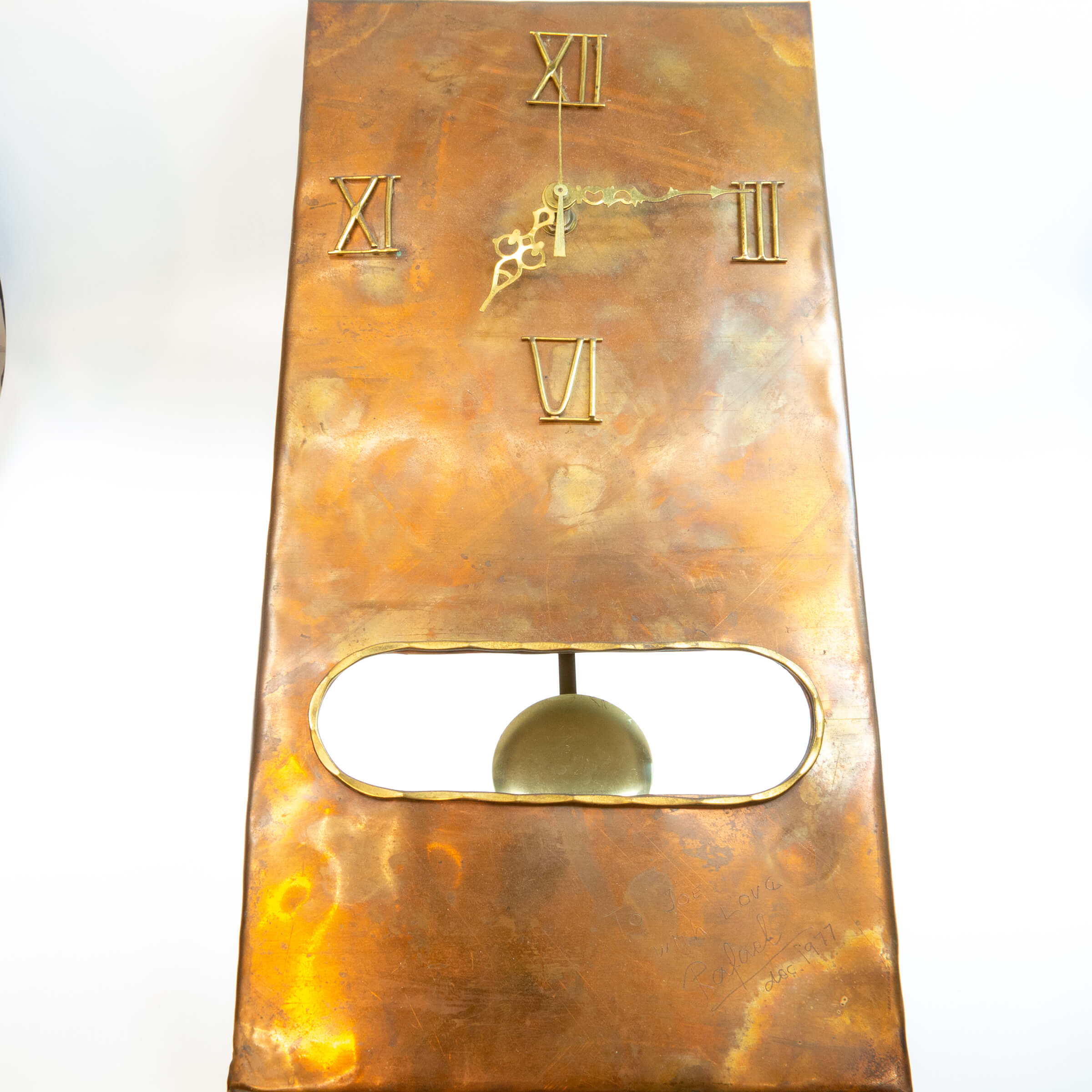 Rafael Alfandary Copper And Brass Wall Clock