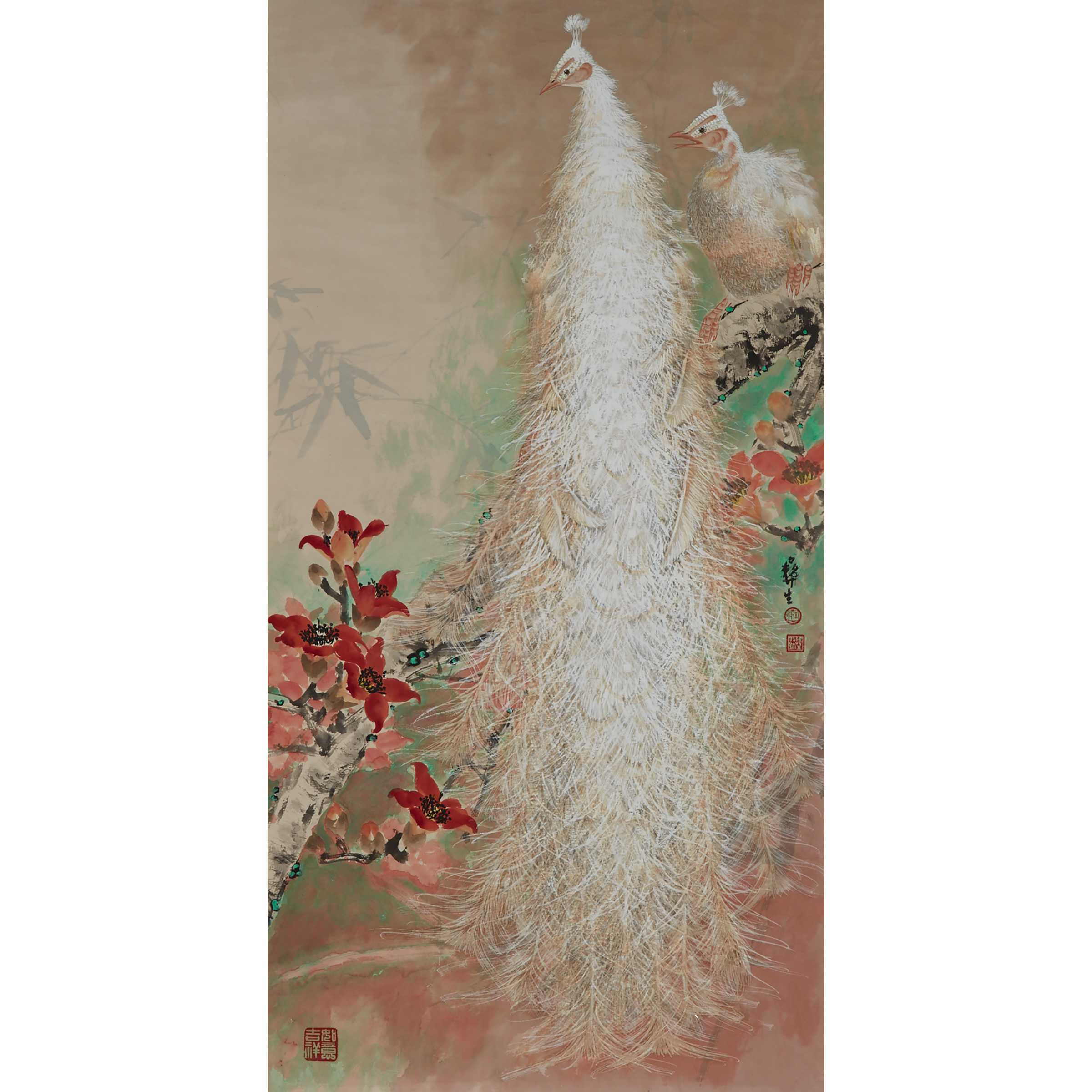 Wu Yisheng 伍彝生 (1929-2009), White Peacock Pair