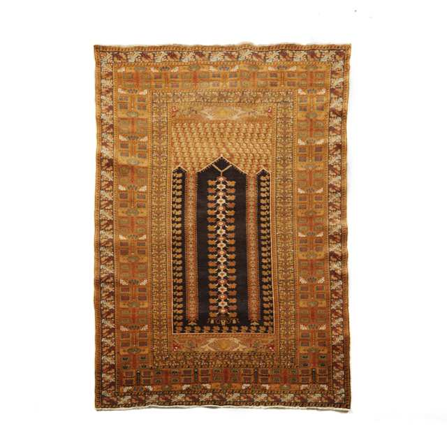 Ghiordes Prayer Rug, Turkish, c.1940