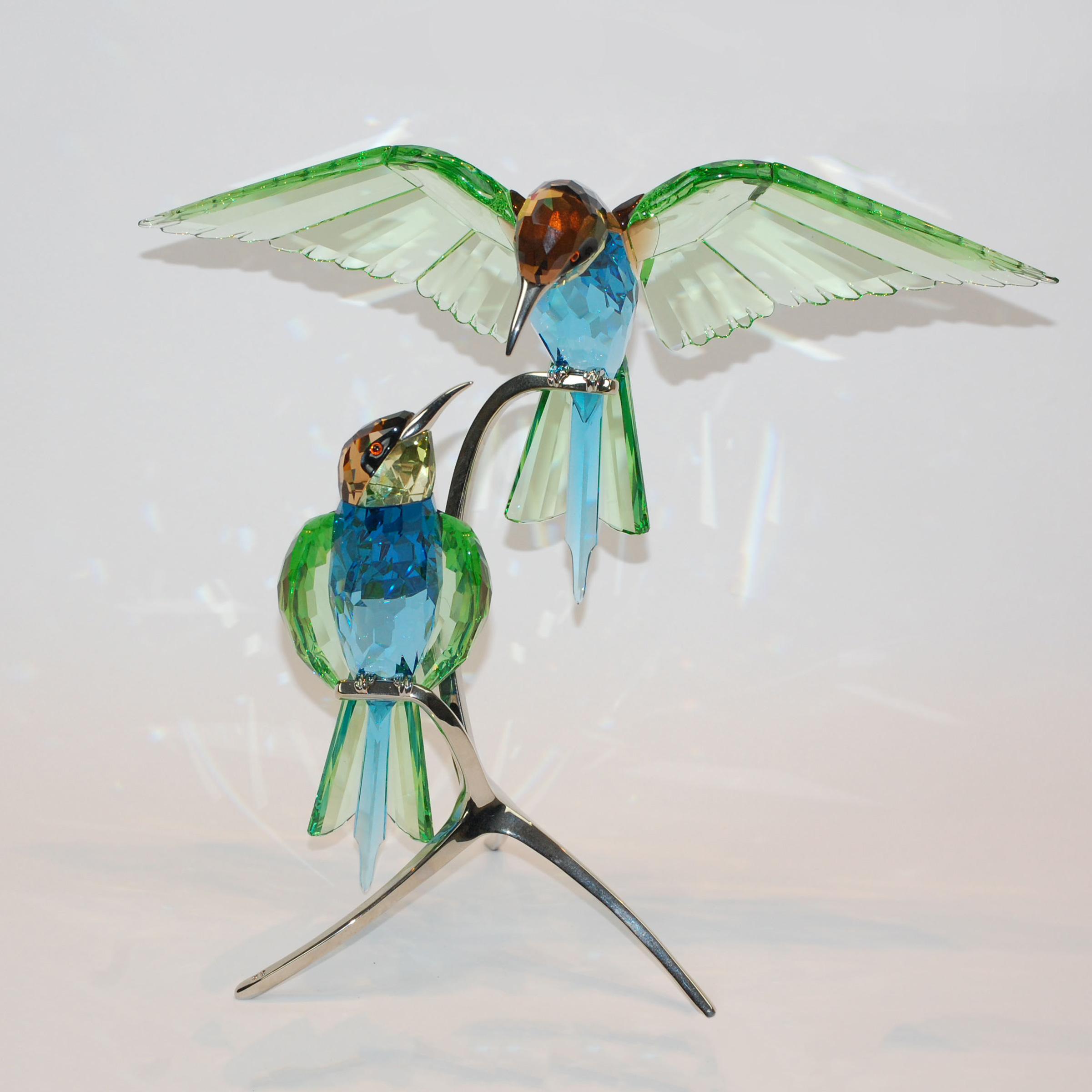 Swarovski Crystal Hummingbirds, early 21st century