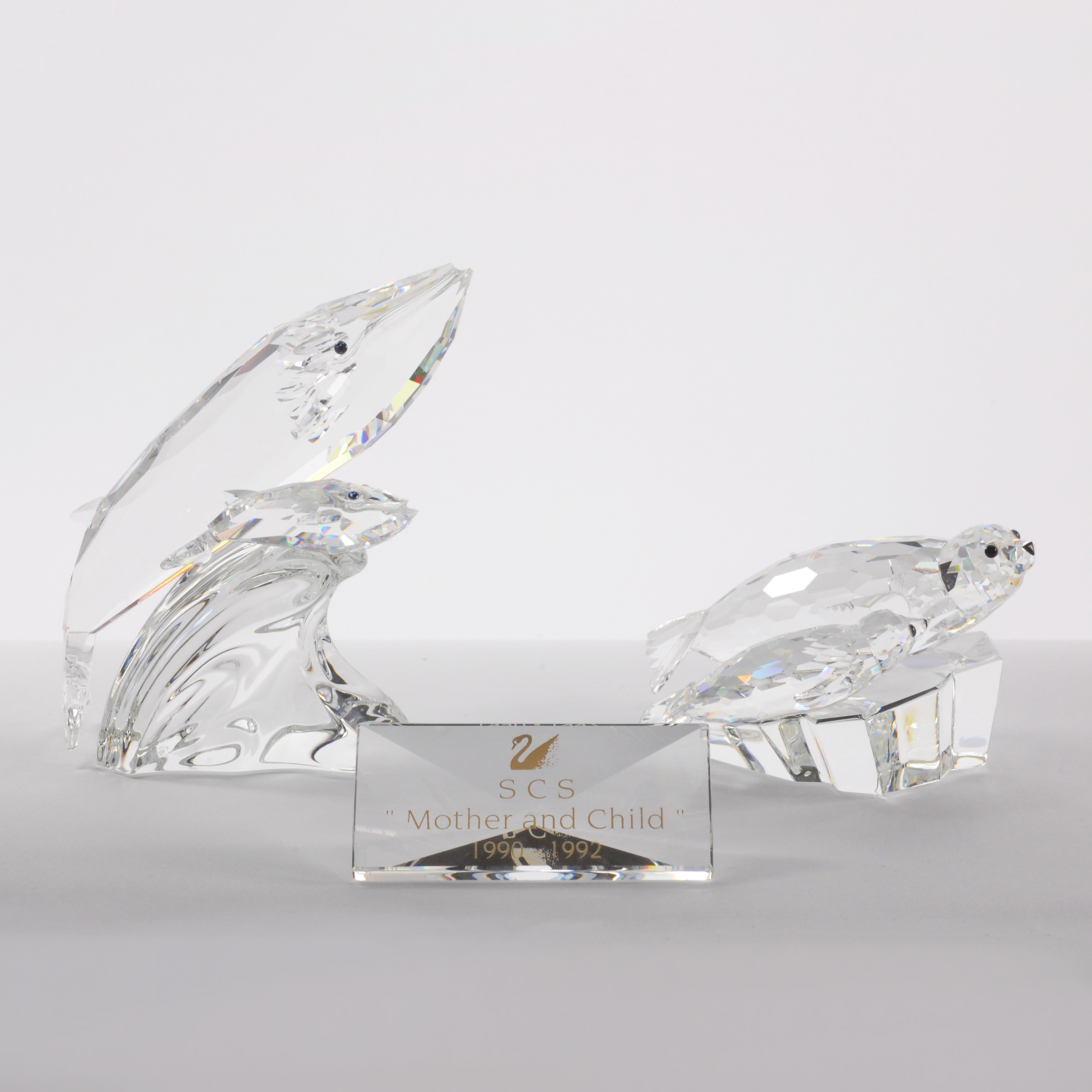 Swarovski Crystal 'Care For Me': Seals and Whales, 1991/1992