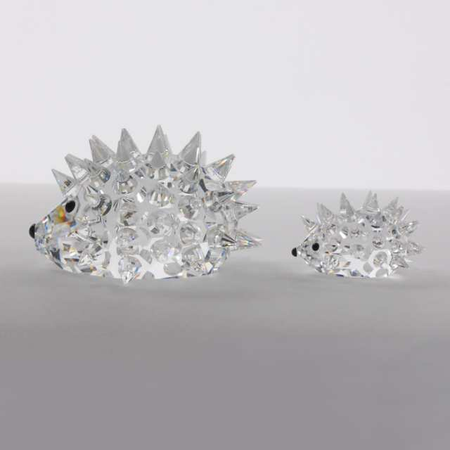 Six Swarovski Crystal Animal Mother and Baby Figurines, late 20th/early 21st century