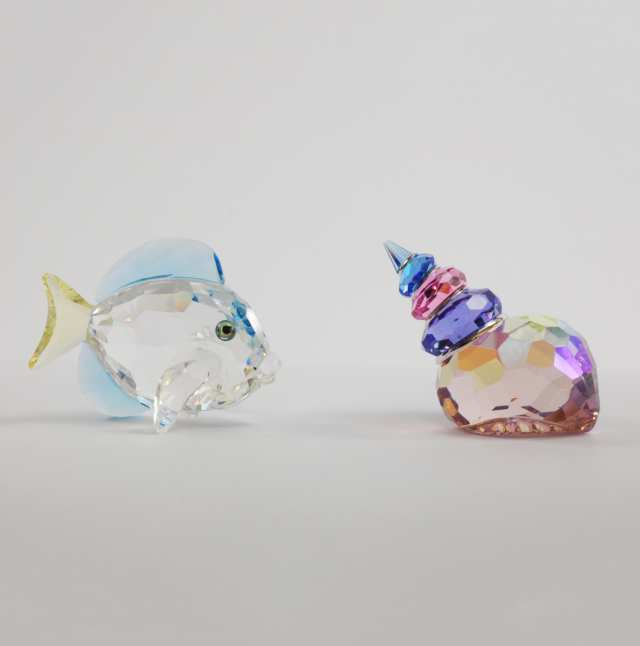 Ten Swarovski Crystal Sea Creatures, late 20th/early 21st century