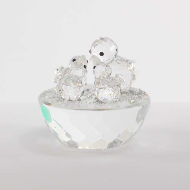 Nine Swarovski Crystal Decorative Objects, late 20th/early 21st century