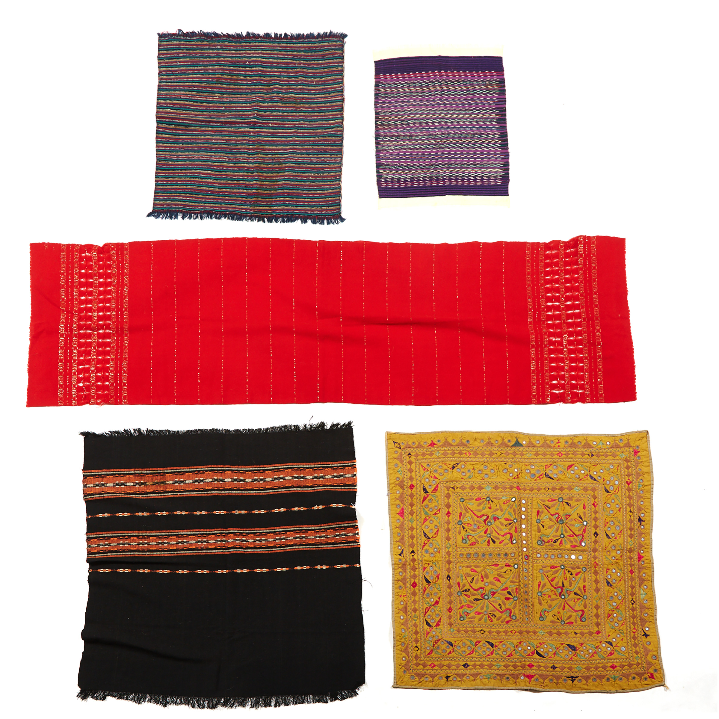 Group of Five Indian Textiles