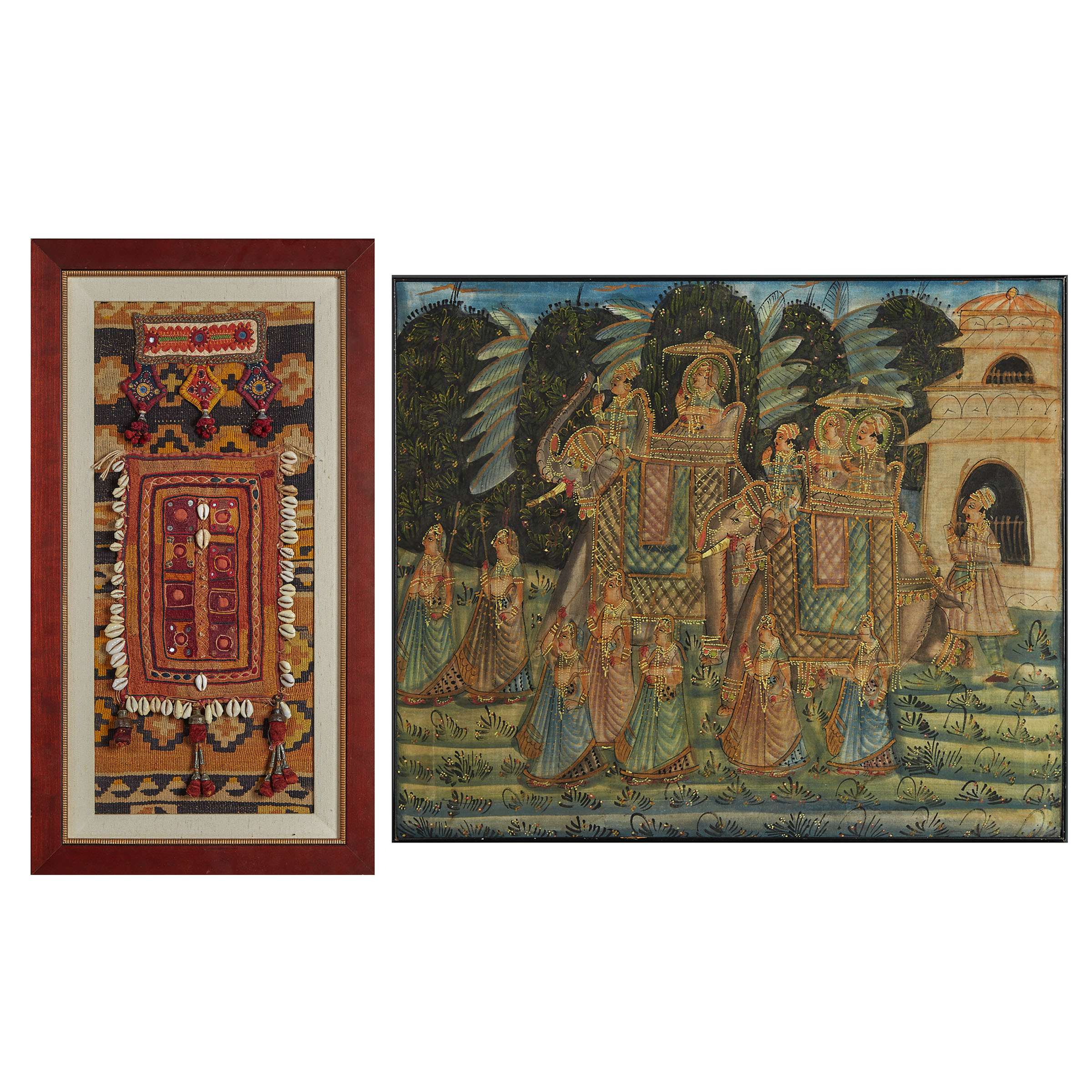 Two Framed Indian Textiles