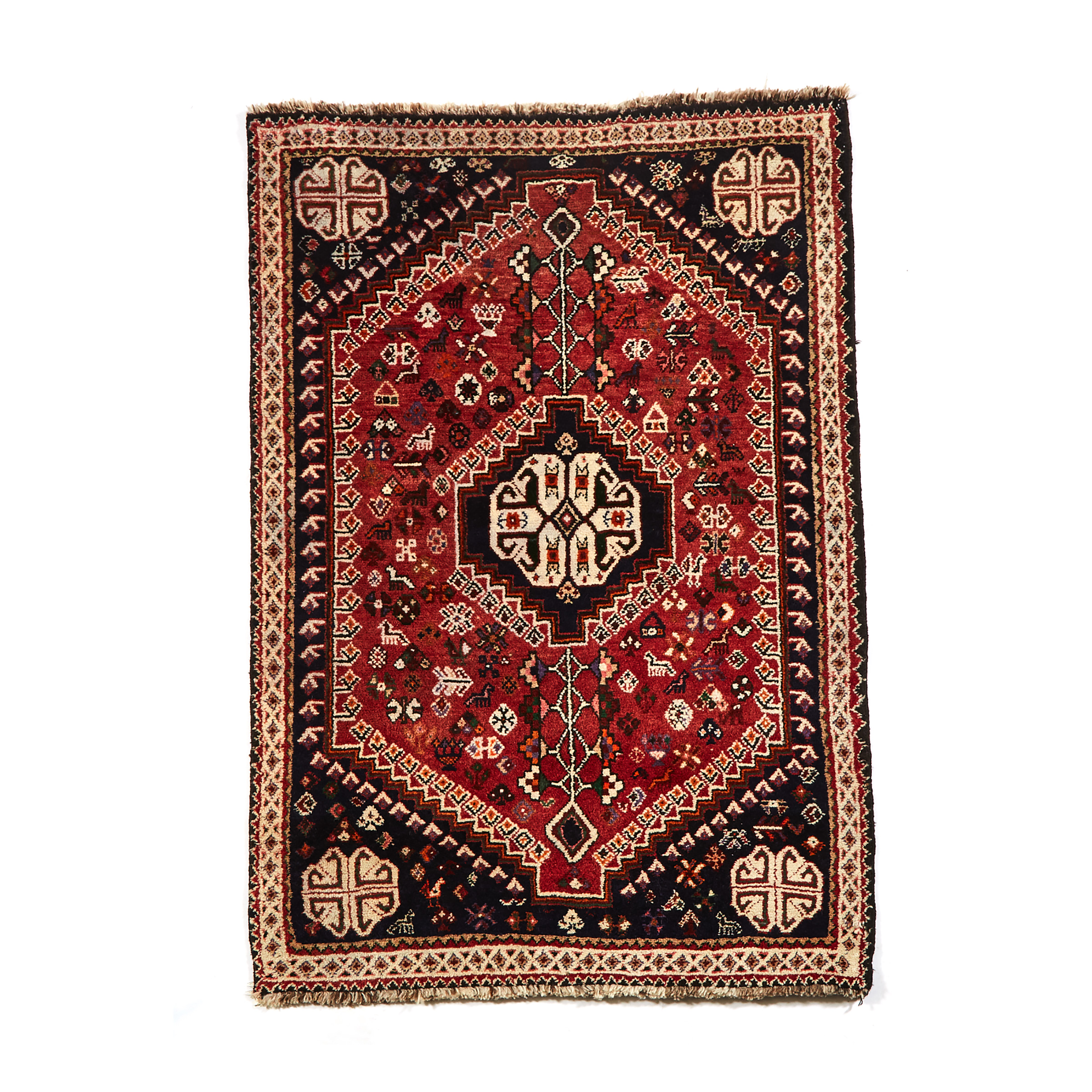 Shiraz Rug, Persian, late 20th century
