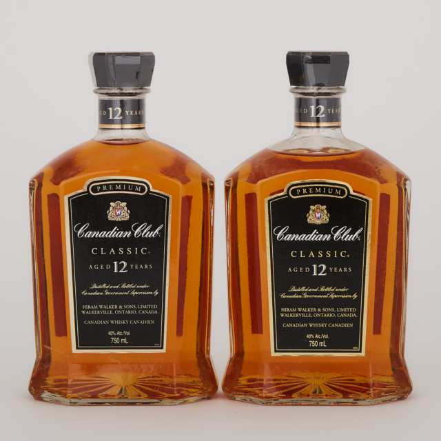 CANADIAN CLUB PREMIUM CLASSIC CANADIAN WHISKY 12 YEARS (TWO 750 ML)