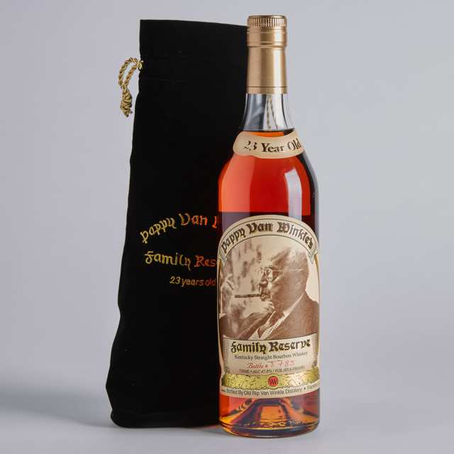 PAPPY VAN WINKLE'S FAMILY RESERVE KENTUCKY STRAIGHT BOURBON  WHISKEY 23 YEARS (ONE 750 ML)
