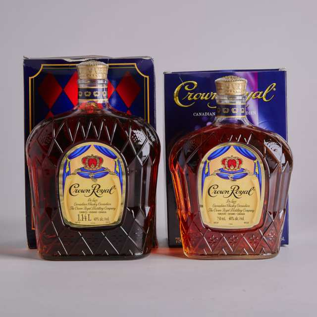 CROWN ROYAL DELUXE CANADIAN WHISKY (ONE 750 ML) CROWN ROYAL DELUXE CANADIAN WHISKY (ONE 1140 ML)