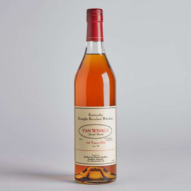 "VAN WINKLE SPECIAL RESERVE KENTUCKY STRAIGHT BOURBON WHISKEY LOT ""B"" 12 YEARS (ONE 750 ML)"