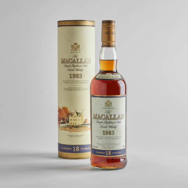 THE MACALLAN SINGLE HIGHLAND MALT SCOTCH WHISKY 18 YEARS (ONE 750 ML)