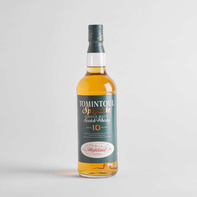 TOMINTOUL SINGLE MALT SCOTCH WHISKY 10 YEARS (ONE 750 ML)
