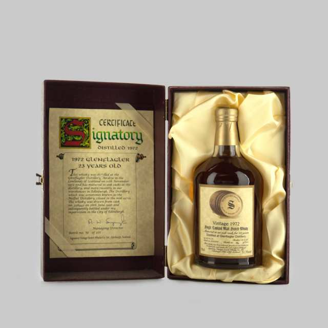 GLENFLAGER SINGLE LOWLAND SCOTCH WHISKY 23 YEARS (ONE 70 CL)