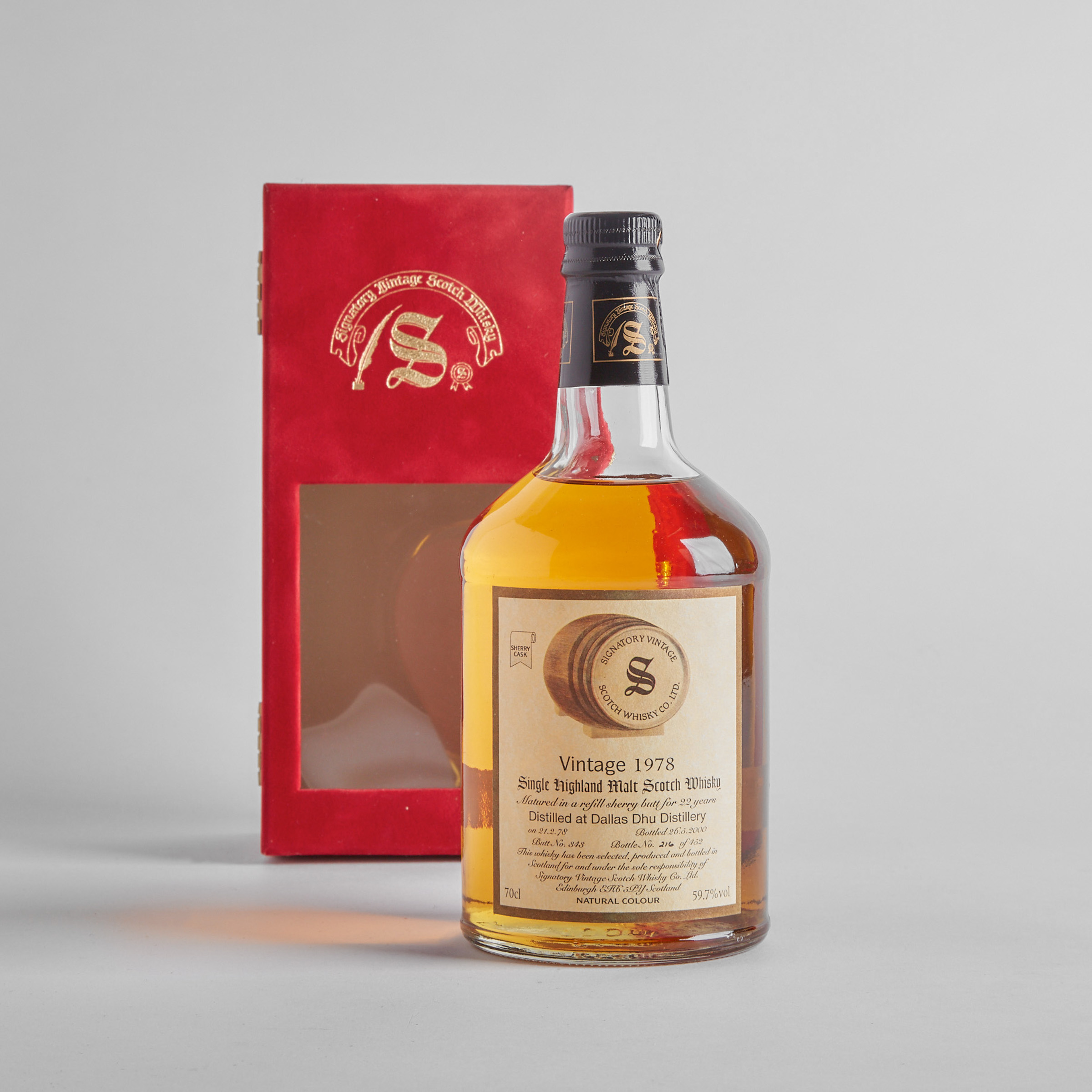 DALLAS DHU SINGLE HIGHLAND MALT SCOTCH WHISKY 22 YEARS (ONE 70 CL)