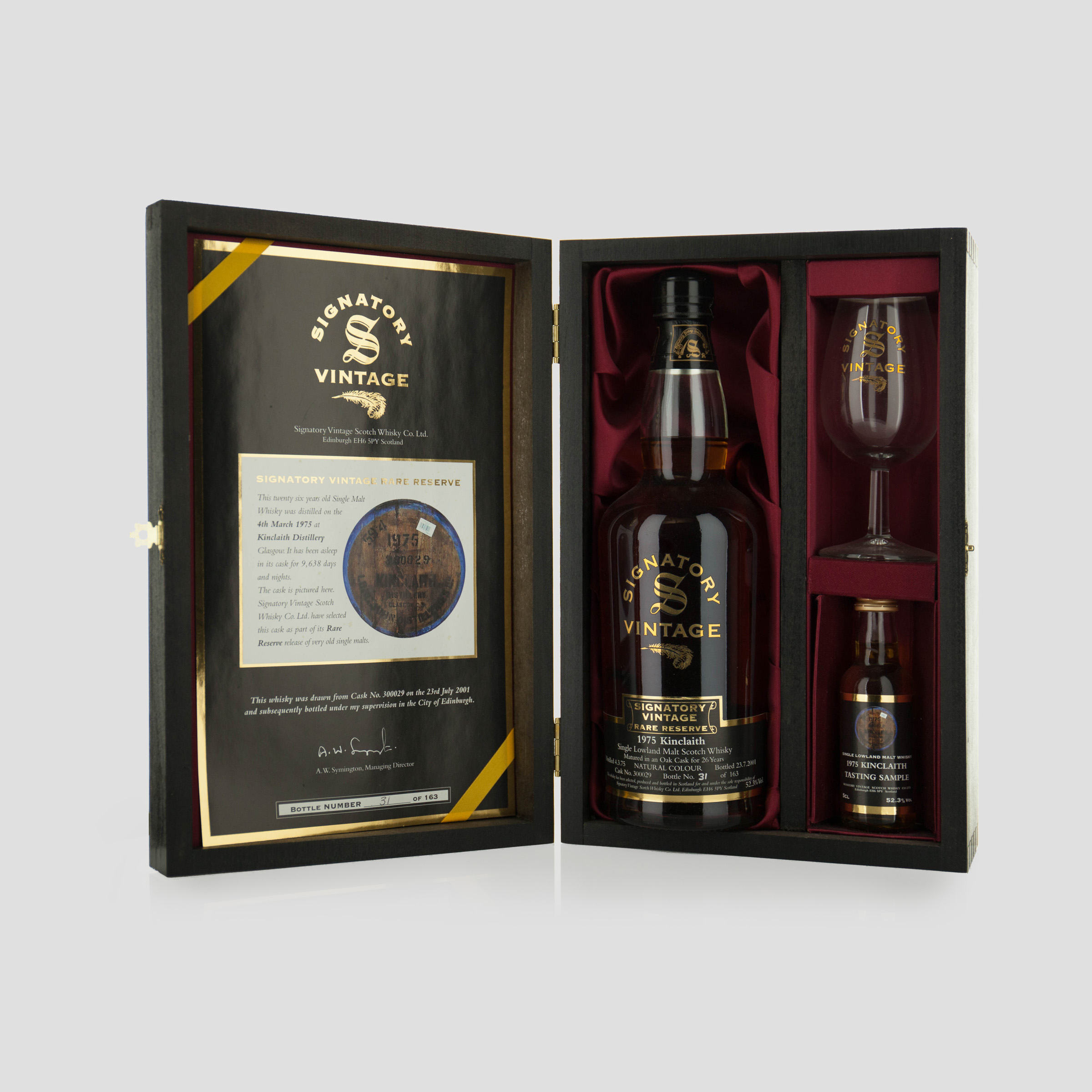 KINCLAITH SINGLE LOWLAND MALT SCOTCH WHISKY 26 YEARS (ONE 70 CL)