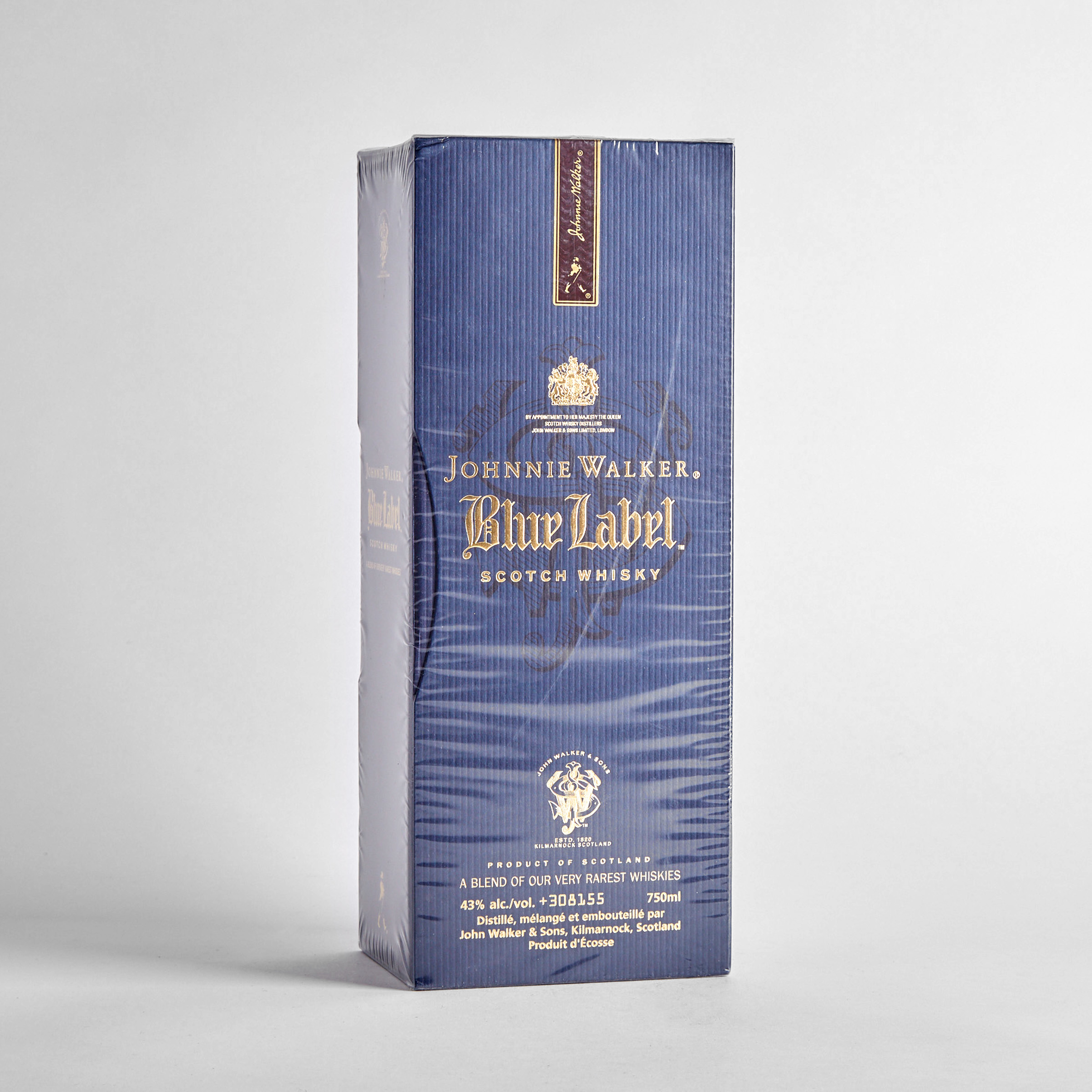 JOHNNIE WALKER BLUE LABEL BLENDED SCOTCH WHISKY NAS (ONE 750 ML)