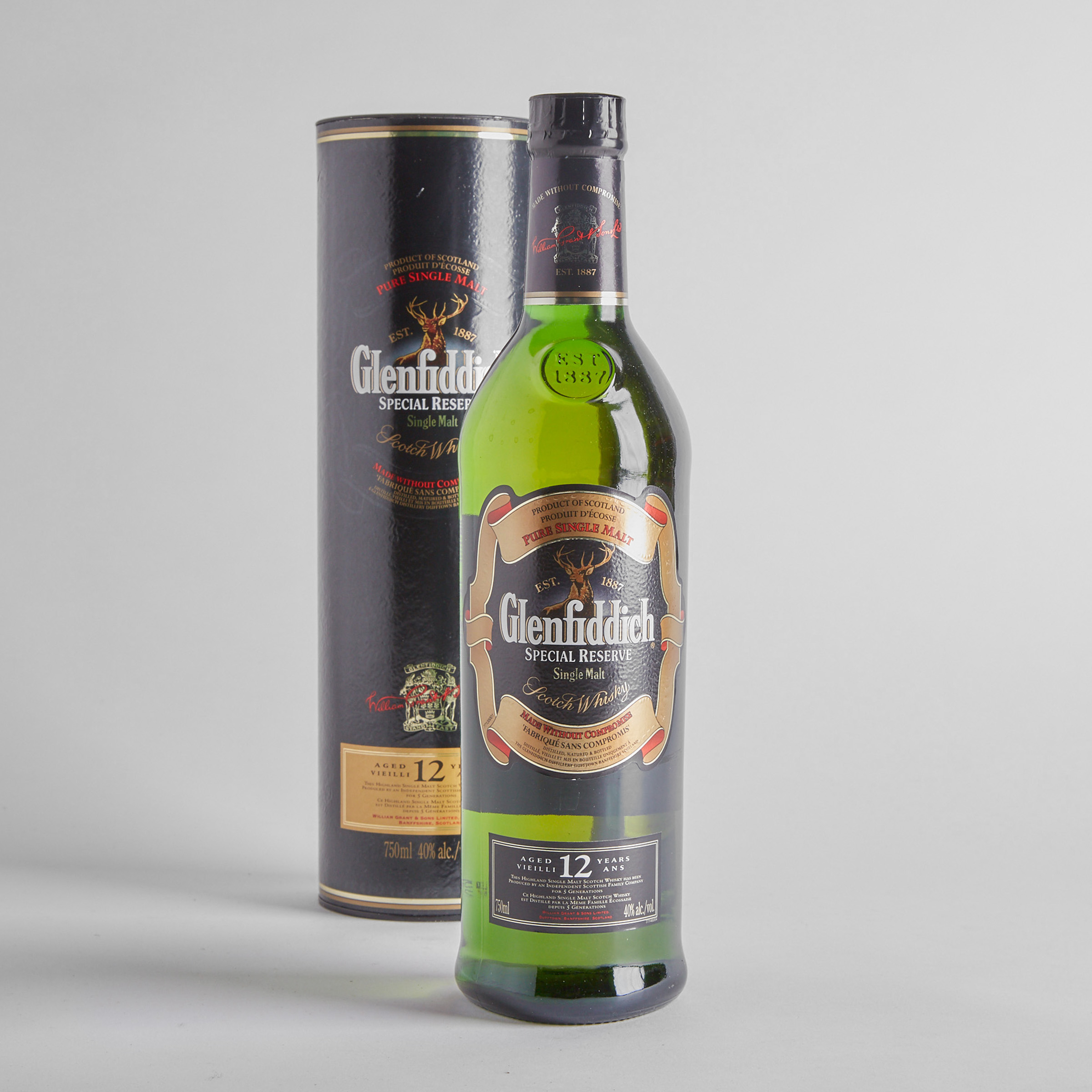 GLENFIDDICH SPECIAL RESERVE SINGLE MALT SCOTCH WHISKY 12 YEARS (ONE 750 ML)