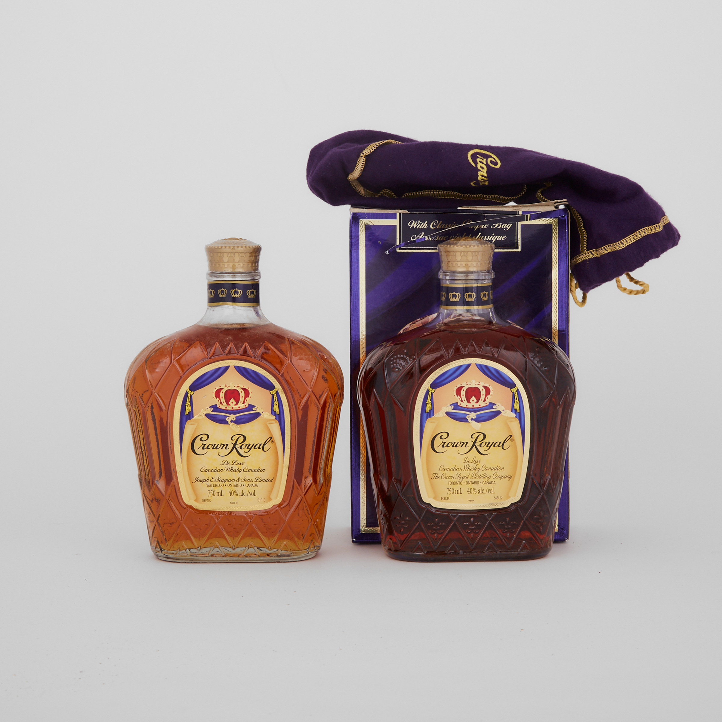 CROWN ROYAL DELUXE CANADIAN WHISKY (TWO 750 ML)