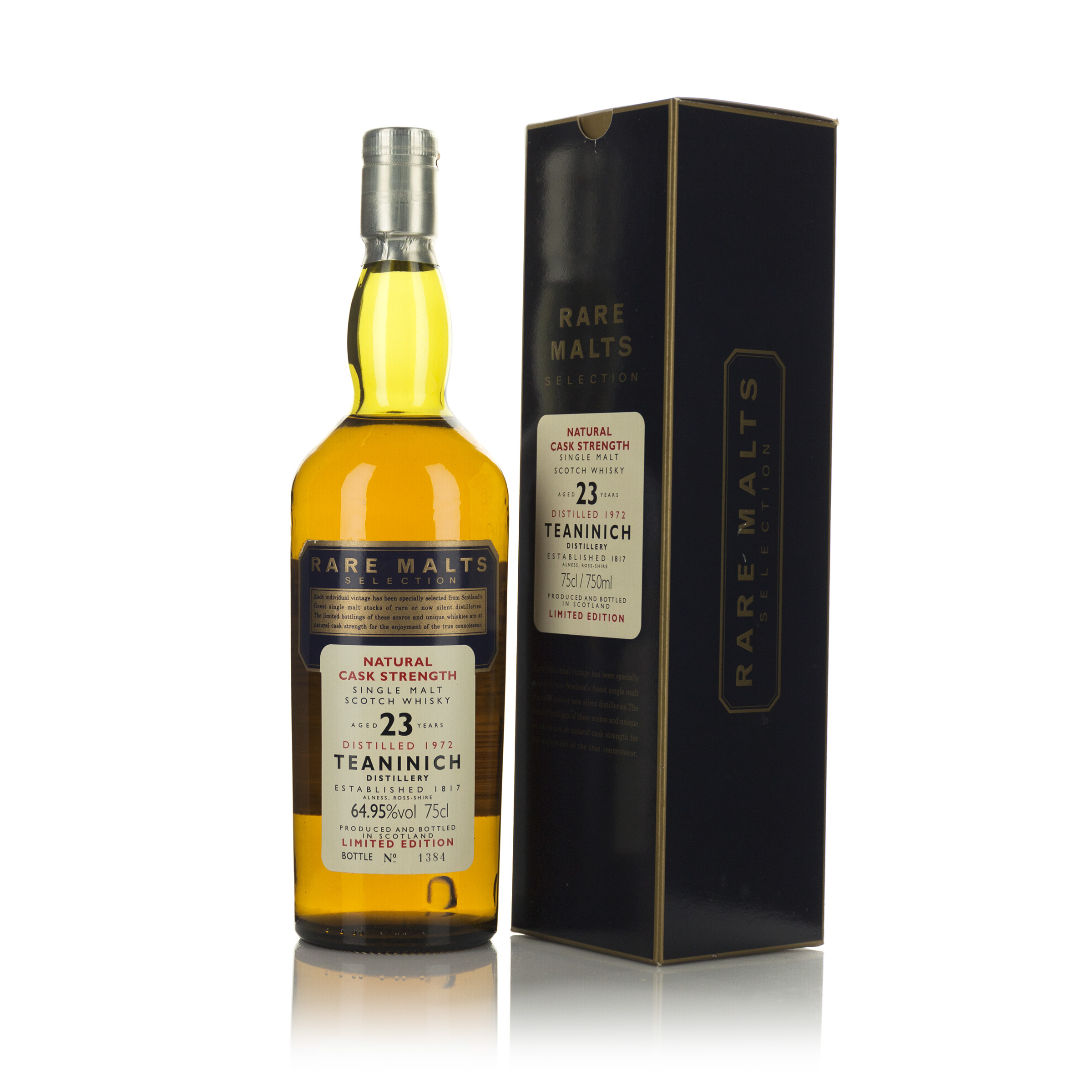 TEANINICH SINGLE MALT SCOTCH WHISKY 23 YEARS (ONE 750 ML)