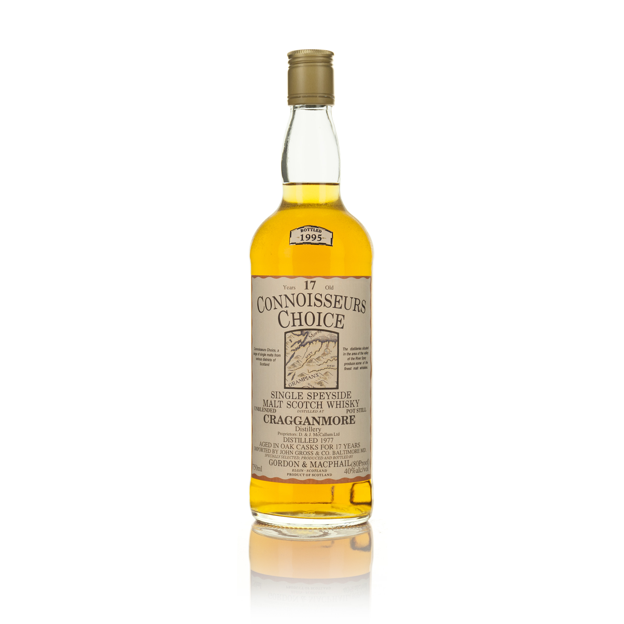 CRAGGANMORE SINGLE SPEYSIDE MALT WHISKY 17 YEARS (ONE 750 ML)