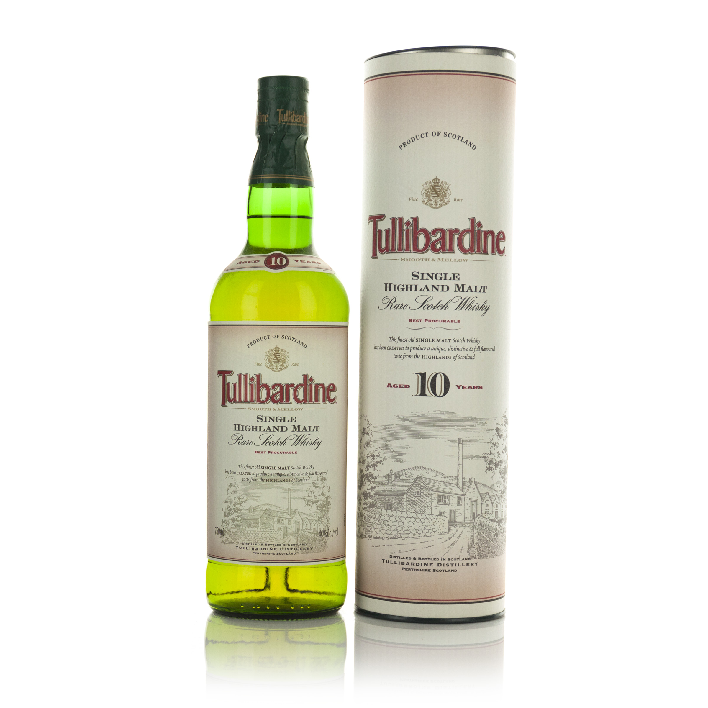 TULLIBARDINE SINGLE HIGHLAND MALT SCOTCH WHISKY 10 YEARS (ONE 750 ML)