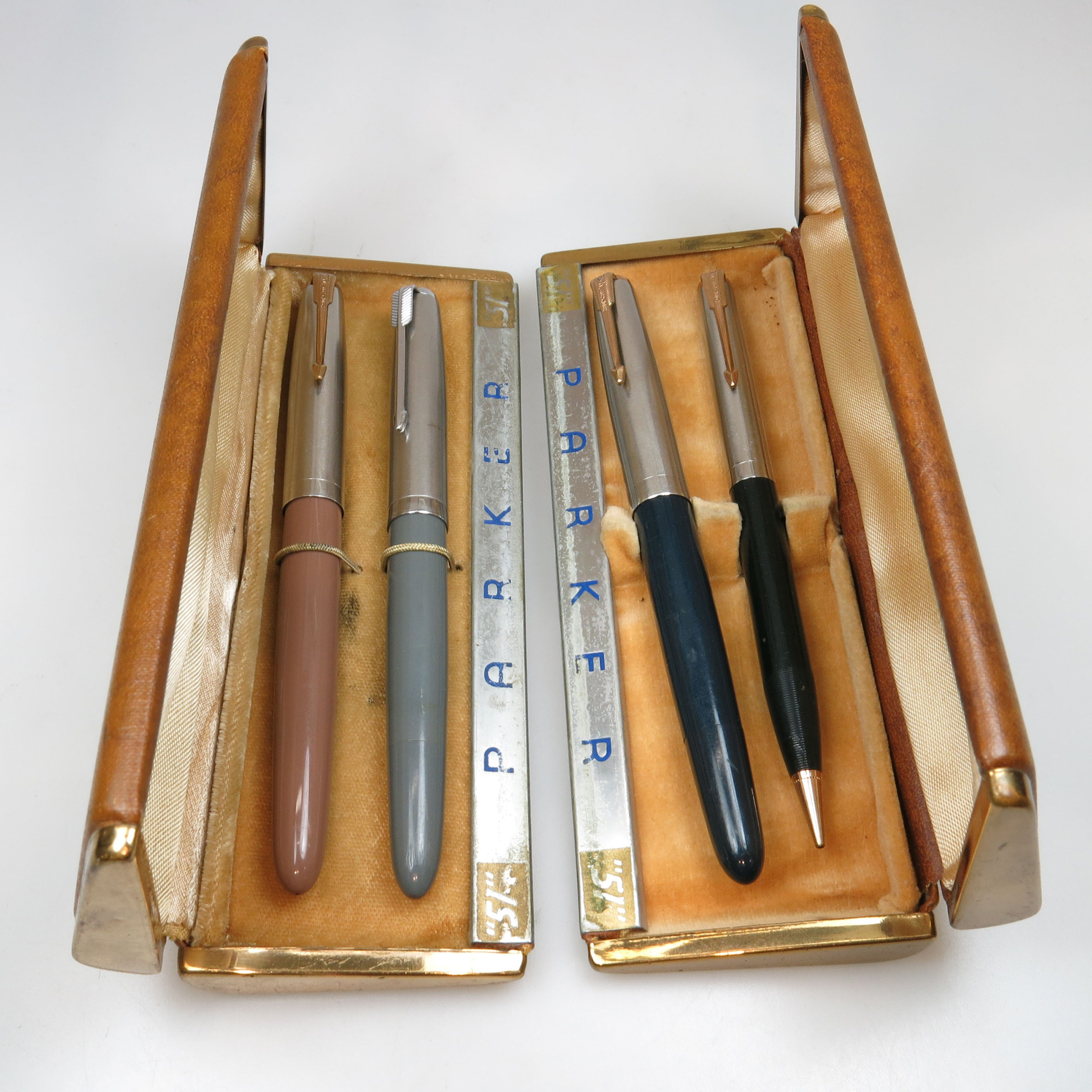 3 Parker 51 Fountain Pens And a Similar Mechanical Pencil