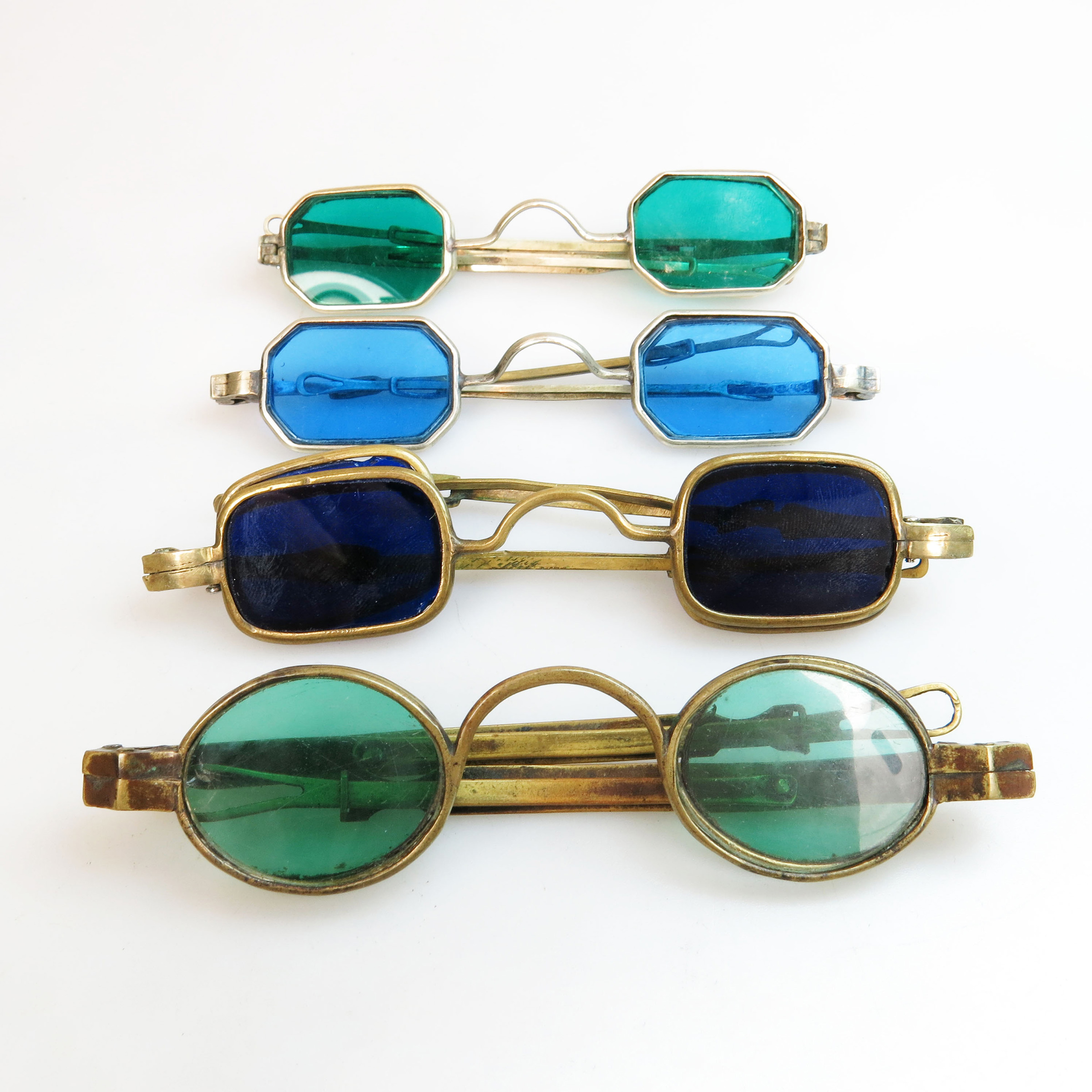 4 Pairs Of 19th Century Brass 4 Lens Spectacles