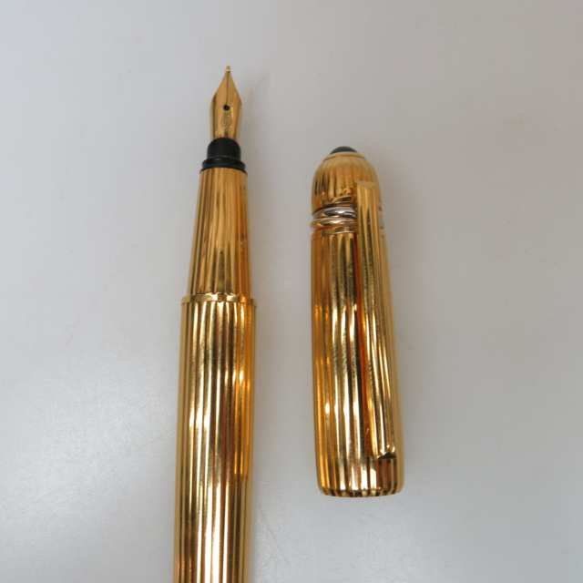 Pasha De Cartier Gold-Plated Fountain Pen