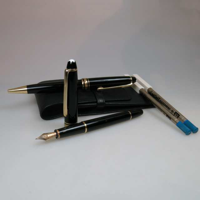 Montblanc 144 Meisterstuck Fountain Pen And Ballpoint Pen