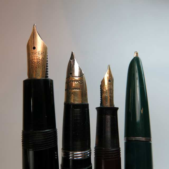 4 Parker And 4 Sheaffer Fountain Pens