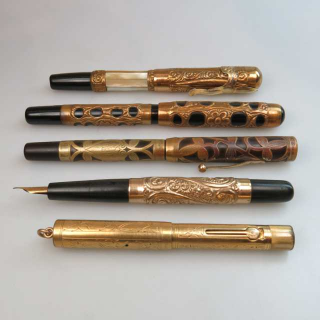 5 Various Fountain Pens