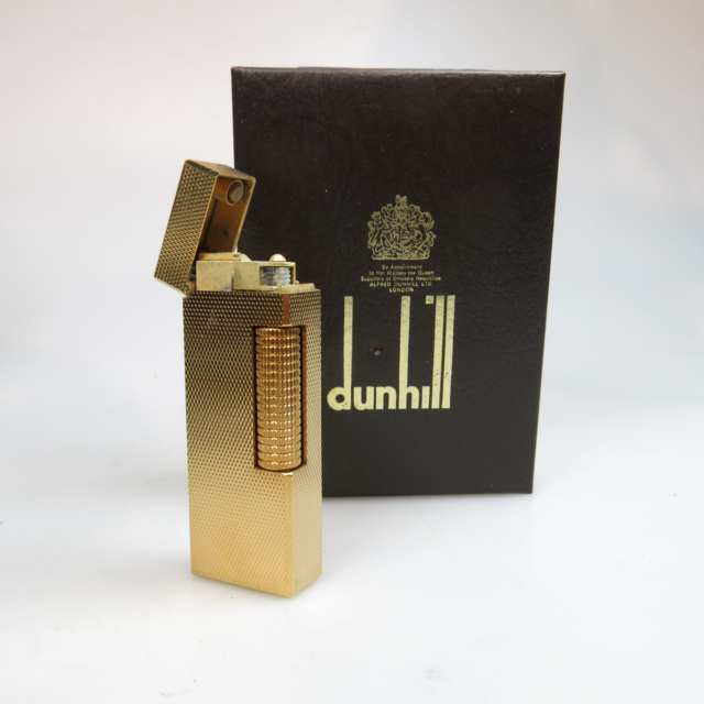 2 Dunhill Rollagas Gold-Plated Lighters