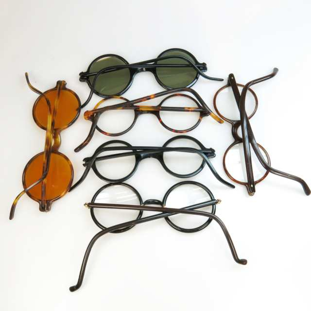 6 Pairs Of Early 20th Century Temple Spectacles