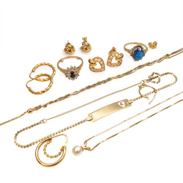 Small Quantity Of Gold, Silver And Gold Filled Jewellery