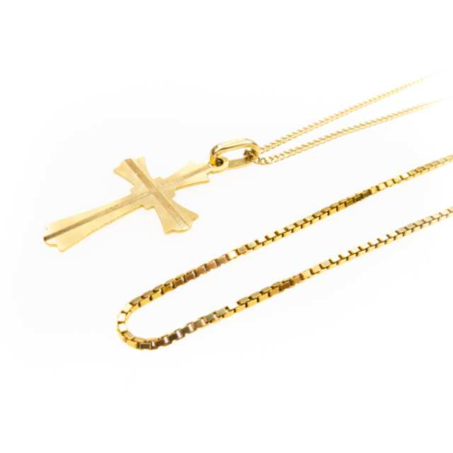 2 X 18K Yellow Gold Chains