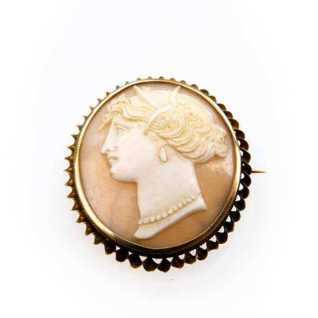 Oval Carved Shell Cameo