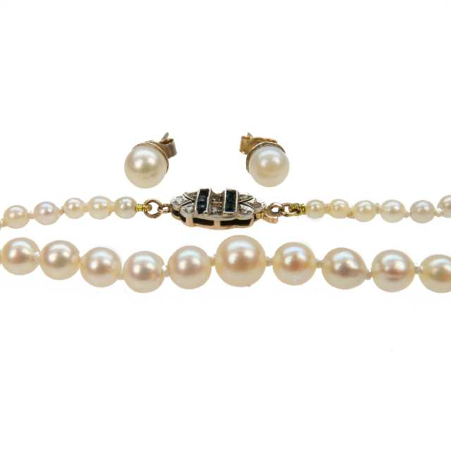 Single Strand Of Graduated Cultured Pearls