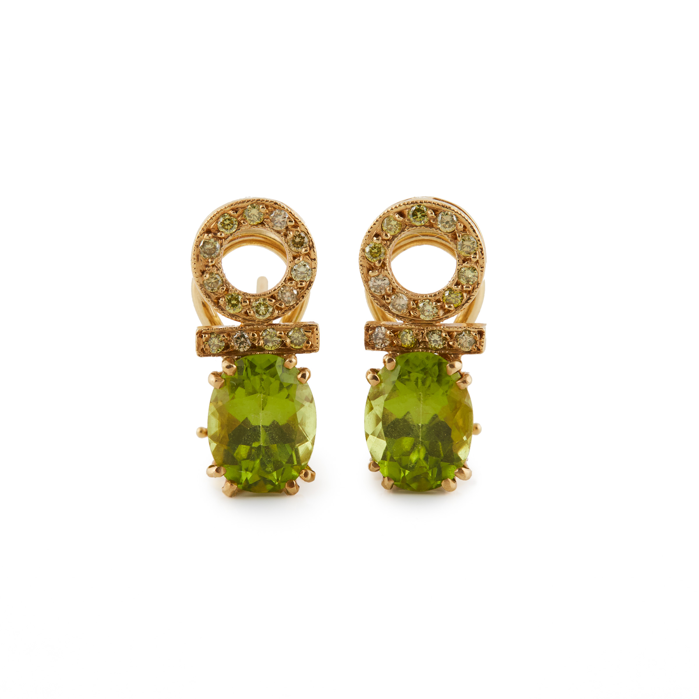 Pair Of 18k Yellow Gold Earrings