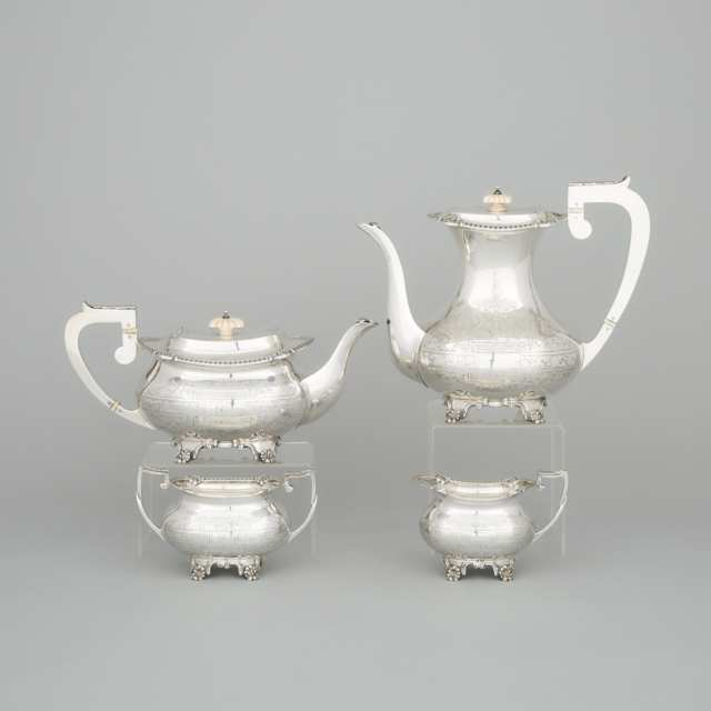 English Silver Tea and Coffee Service, Charles S. Green & Co., Birmingham, 1958