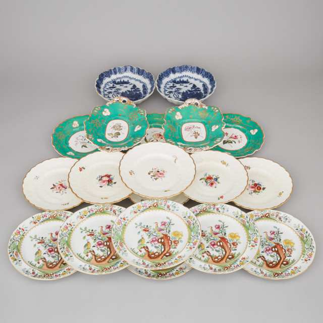Group of English Porcelain and Pottery Tablewares, 19th century