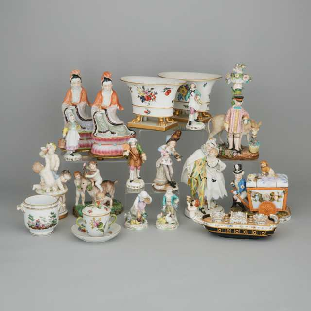Group of Continental and Asian Ceramics, late 19th/20th century