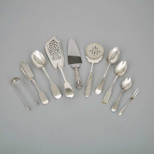 Group of English and North American Silver Flatware, 19th/20th century
